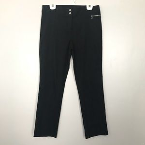 Anne Klein Black Straight Leg Pants Size 12